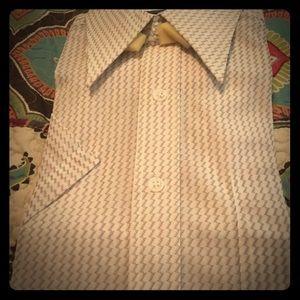 Vintage polyester short sleeve 14 1/2